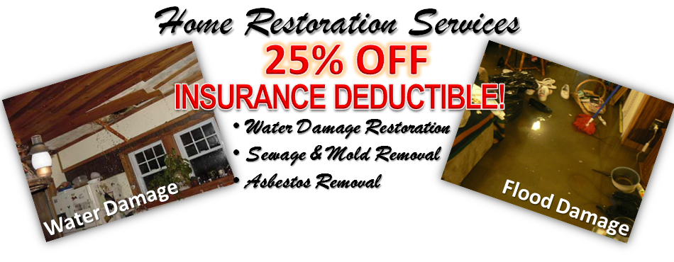 25% OFF Insurance Deductible | Mold Removal | Water Damage Restoration Baltimore