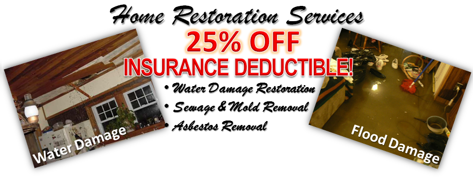 25% off Insurance Deductible water damage services Baltimore | Flood Damage Service Baltimore | Mold Removal Services Baltimore | www.EnviroServe1.com