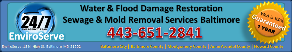 Water Damage Baltimore | Sewage & Mold Removal Baltimore MD | 443-651-2841 | NOVA 571-212- 4051